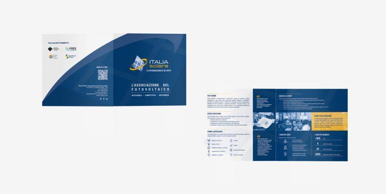 Kreas grafica italiasolare brand brochure