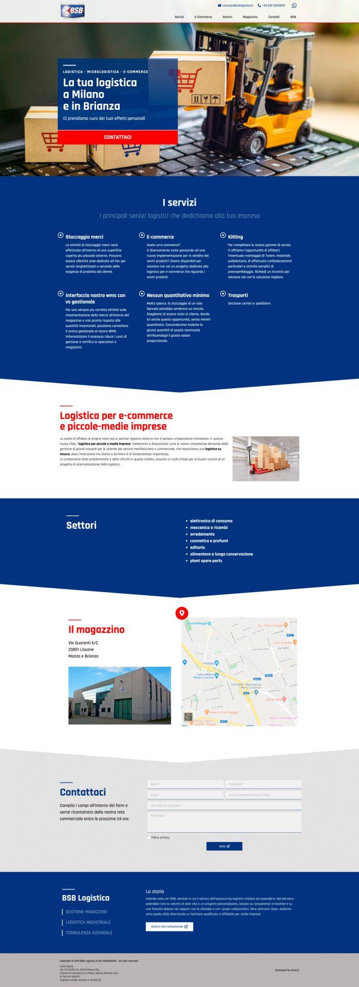 Kreas website logisticamilano