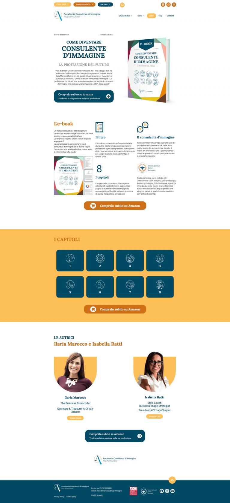 Kreas website accademiaconsulenzaimmagine e book diventare consulente dimmagine