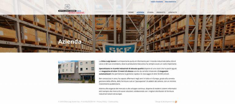 Kreas website azzonilecco azienda