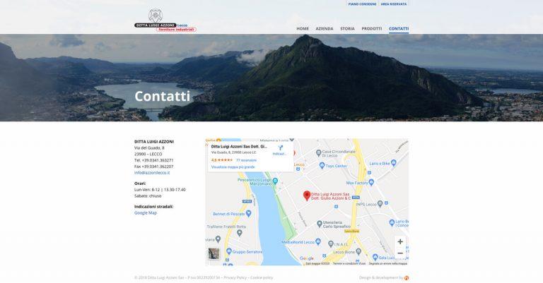 Kreas website azzonilecco contatti