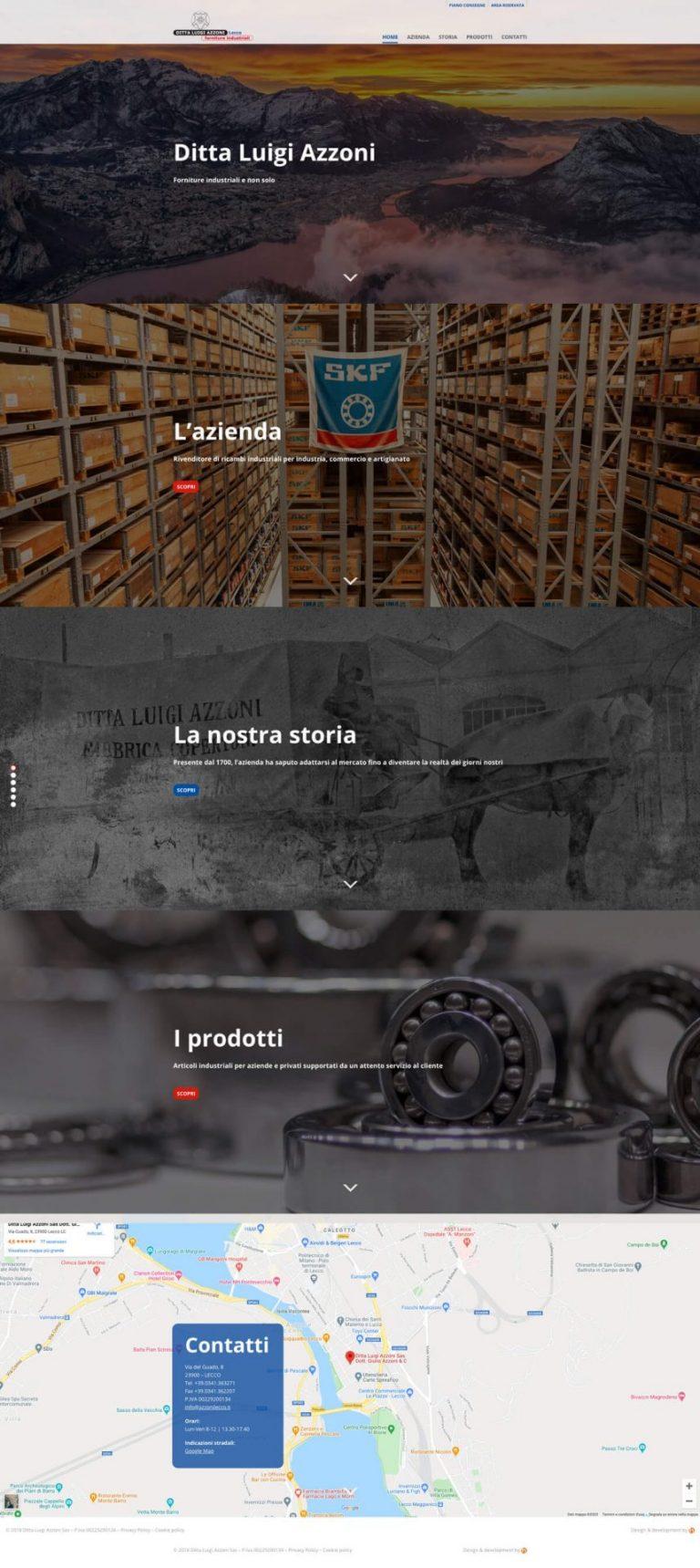 Kreas website azzonilecco home