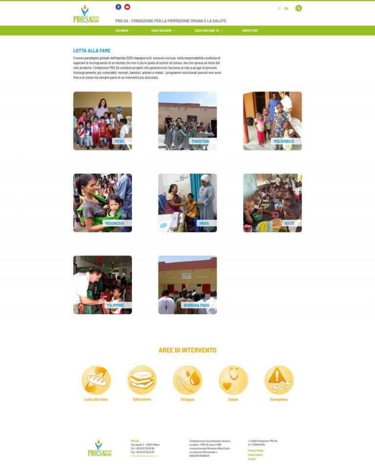 Kreas website fondazioneprosa it aree lotta alla fame