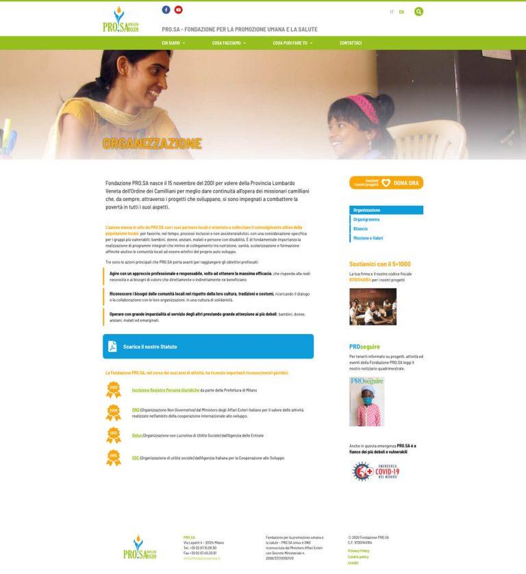 Kreas website fondazioneprosa it chi siamo organizzazione