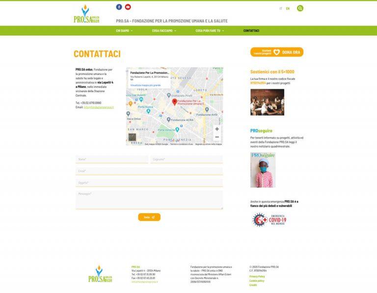 Kreas website fondazioneprosa it contattaci