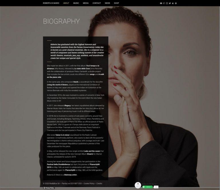 Kreas website robertadimario about