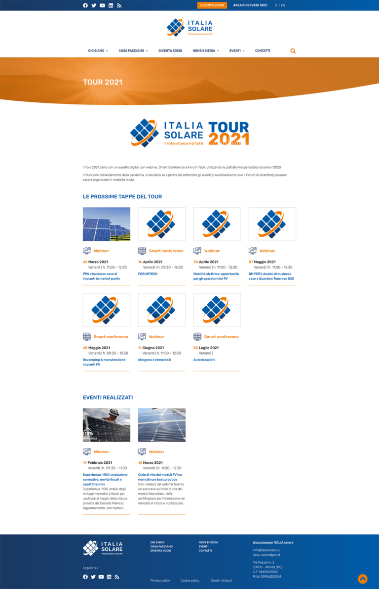 Italiasolare eu eventi tour italia solare